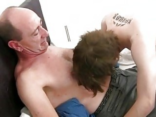aged gay daddy slamms young tight butt hole in